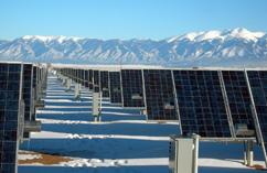 Produziert Strom auch im Winter: PV Kraftwerk