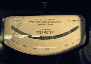 Elektrostatischer Voltmeter